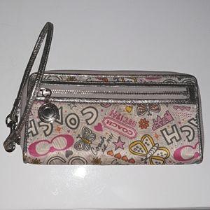 Coach Butterfly Wristlet Wallet